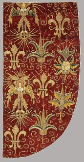 portion of a silk chasuble