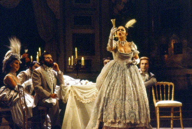 Catherine Malfitano as Violetta in La Traviata; photo by Claude Truong-Ngoc