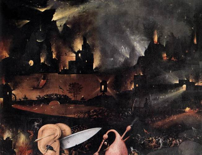 detail of Hieronymus_Bosch_-_Triptych_of_Garden_of_Earthly_Delights_(detail)_-_WGA2526