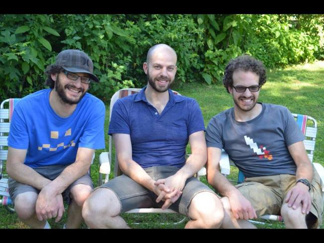 The Kirsch brothers, Jeremy, Jesse, and Josh, May 2015.