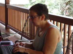 Linda, hard at work.