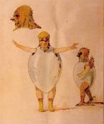 Chicks Sketch for Trilby Ballet