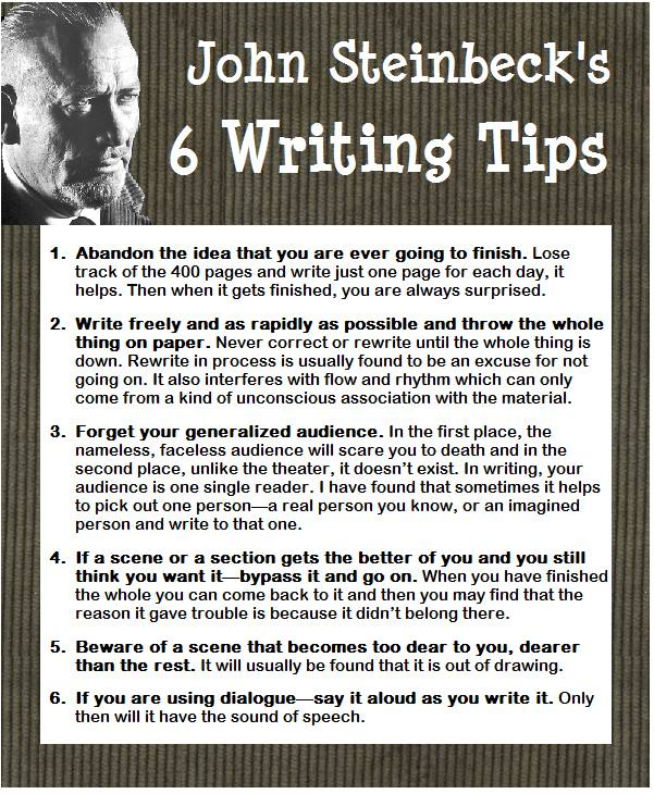Writing advice from John Steinbeck