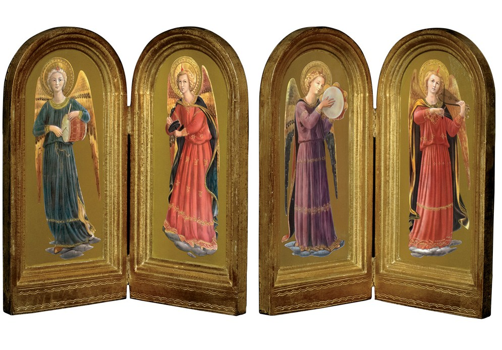 These images from the Linaiuoli Madonna Alterpiece by Fra Angelico are available from the Metropolitan Museum Store