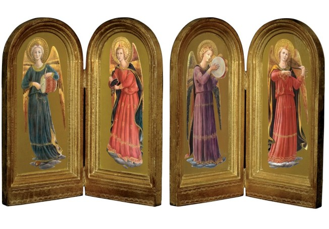 Images from the Linaiuoli Madonna altarpiece by Fra Angelico: store.metmuseum.org