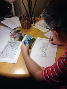 Michael James working 2