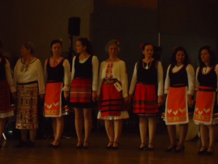 Beautiful Bulgarian folk dancers.