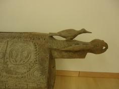 Detail of slit drum.