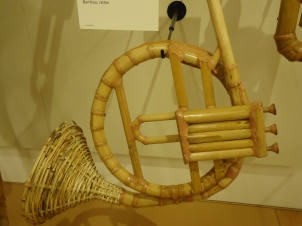 French horn made of bamboo.