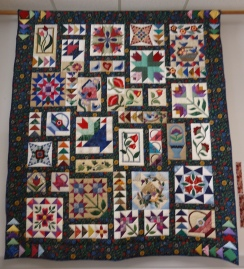 Raffle quilt. I bought a couple of chances for it. I hope I win!