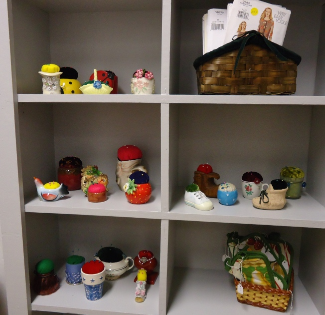 Some of the items for sale in the gift shop. I bought a hand-made pincushion made from a ceramic cornucopia.
