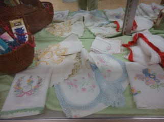 Beautiful hand-embroidered and -trimmed linens.