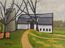 Barn with Two Trees
