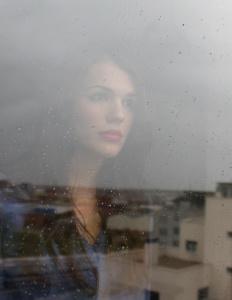 Woman Rainy Window