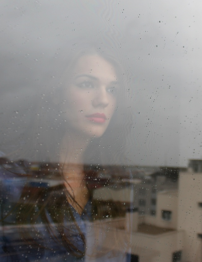Woman Rainy Window