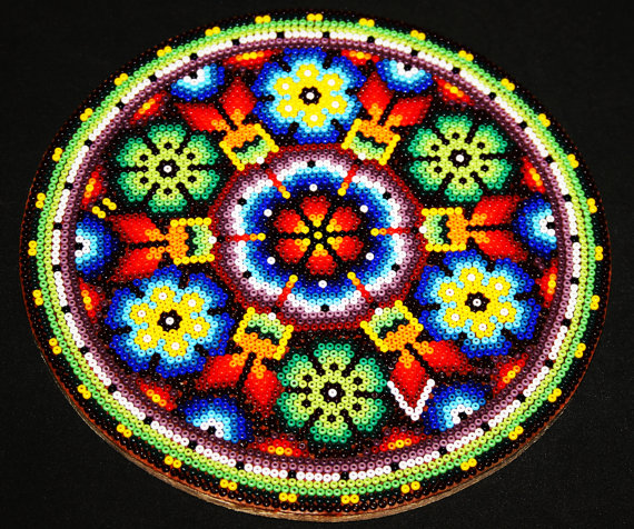 Circular bead painting