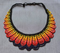 Yellow-orange necklace.