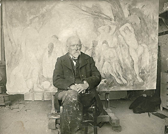 Paul_Cézanne_in_his_studio_at_Les_Lauves,_1904