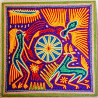 Shaman yarn painting