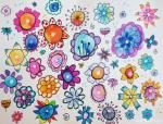 EASY AND FUN WATERCOLOR FLOWER DOODLES…by Marcia Beckett