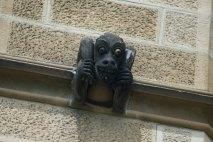 stone sculpture of a monkey