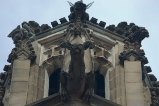 stone scuplture in top of sydney university