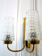 Cut Glass Double Sconce