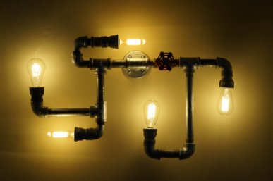 Multi-bulb Steampunk Sconce
