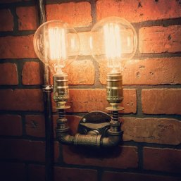 Double Steampunk Sconce