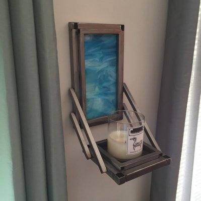 Turquoise Glass Sconce