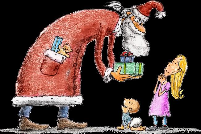 santa-giving-children-presents