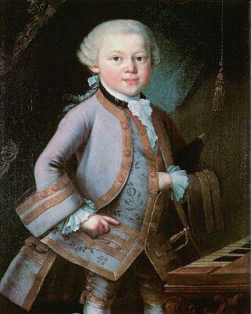 Young Wolfgang Amadeus Mozart