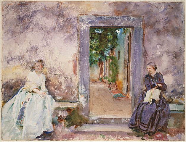 628px-john_singer_sargent_-_the_garden_wall_-_google_art_project