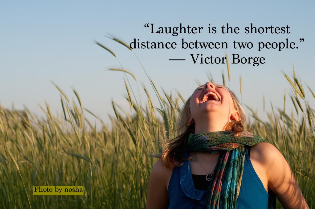 Laughing (photo by nosha)