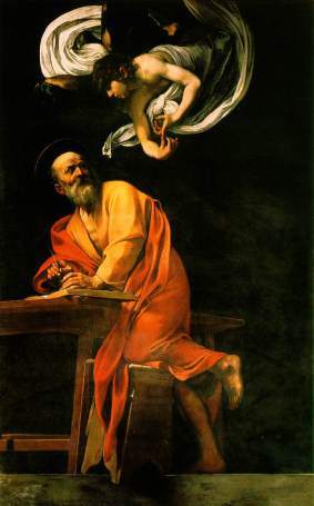 The Inspiration of St. Matthew, my very favorite Caravaggio