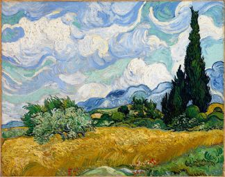 Van Gogh: Wheat Field with Cypresses