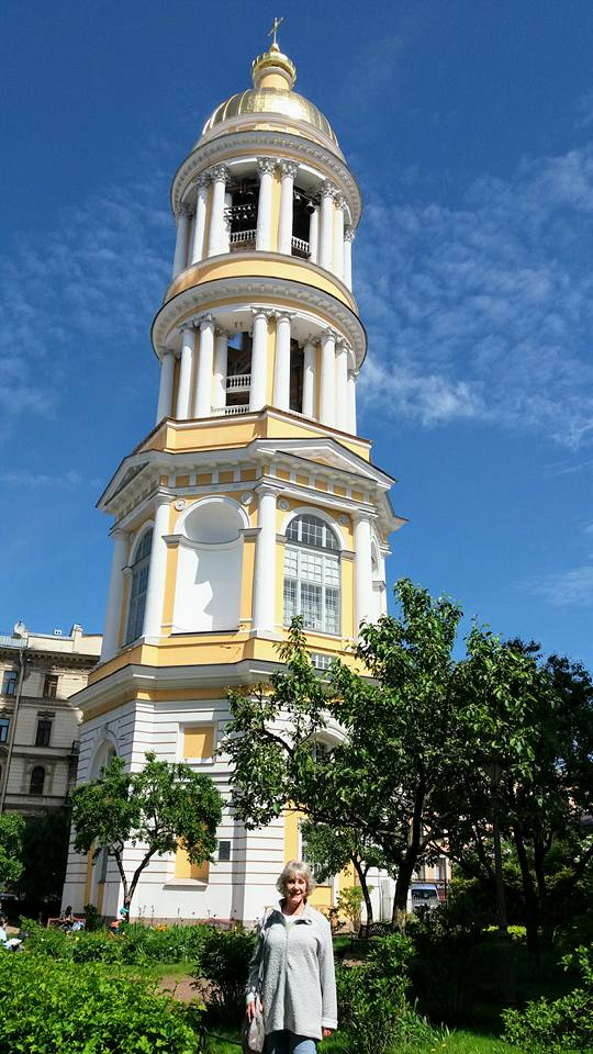 Our Lady of Vladimir Cathedral's bell tower — in Saint Petersburg, Russia.