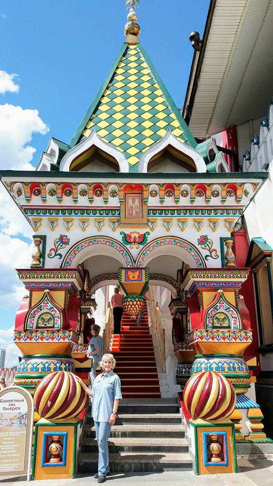 Pretty staircase within Izmaylovo Kremlin