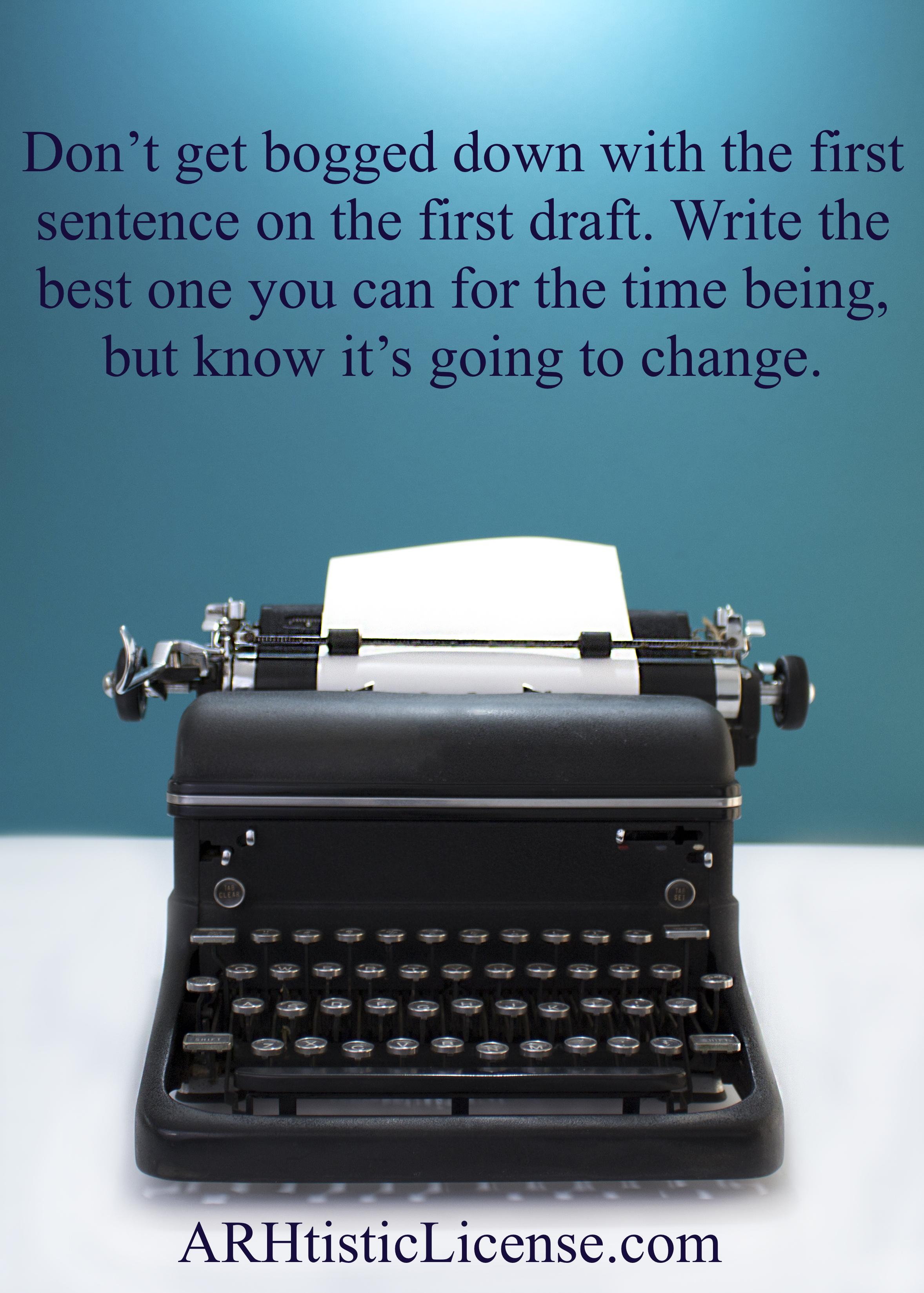 First Draft 1st Sentence