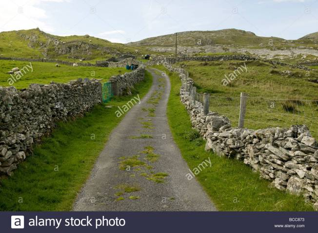 a-country-road-lined-with-stone-walls-BCC873