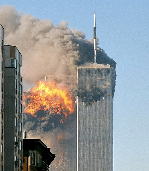 Photo by Robert on Flickr 522px-North_face_south_tower_after_plane_strike_9-11