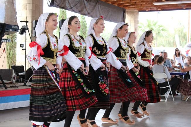 Serbian folk dancers