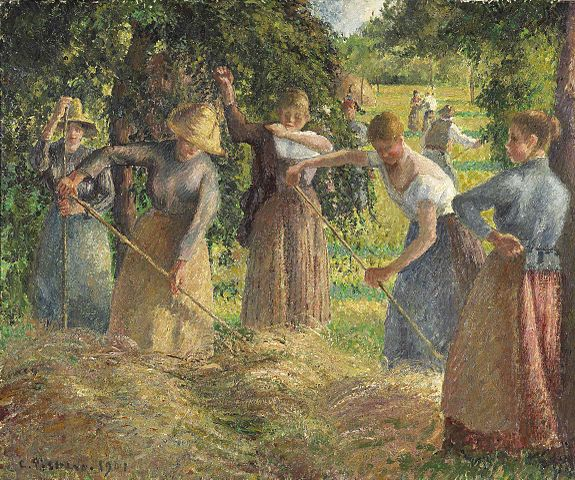 Hay_Harvest_at_Éragny,_1901,_Camille_Pissarro