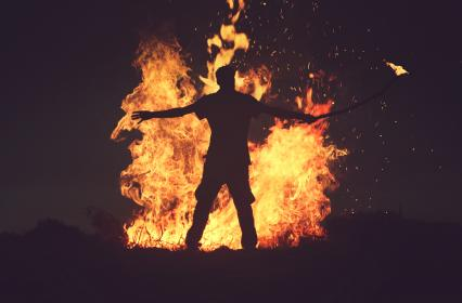 Man in fire