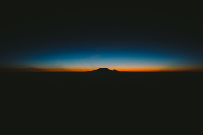 Minimalist sunset