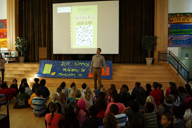 author visit; Jeff Kinney
