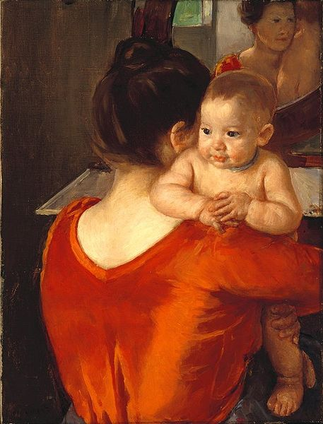 457px-Brooklyn_Museum_-_Woman_in_a_Red_Bodice_and_Her_Child_-_Mary_Cassatt_-_overall