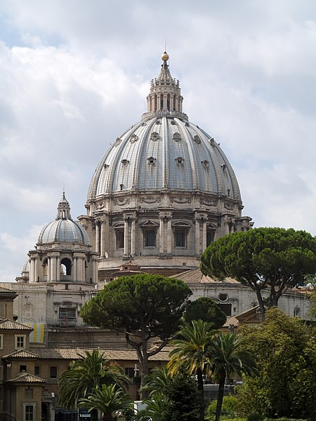 450px-Basilique_Saint-Pierre_Vatican_dome