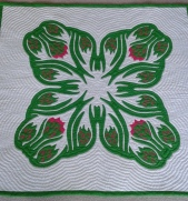Dragon Fruit quilt by Pat Gorelangton