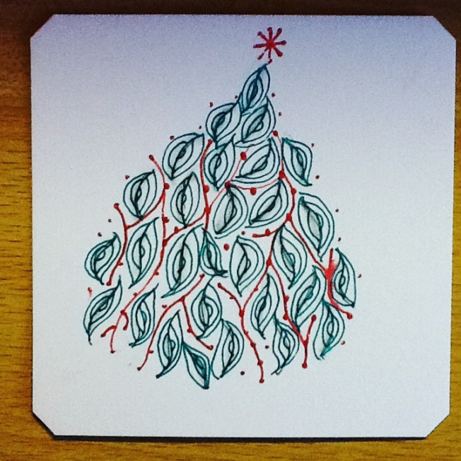 Zentangle, aura-leah, Christmas tree